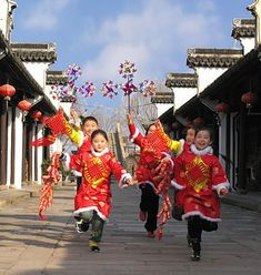 Chinese New Year is celebrated by wearing red clothing and decorating the house with red.