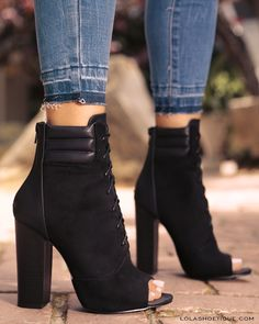 ON DA BLOCK #lolashoetique #bootie #booties #olive #black #casual #sexy #nightout #datenight #gno #chic #edgy #love #shoes #heels