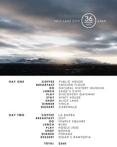 36 Hours | Salt Lake City