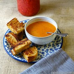 Creamy Tomato Soup with Home-Canned Tomatoes