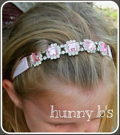 Rhinestone connector headband from hunny b's