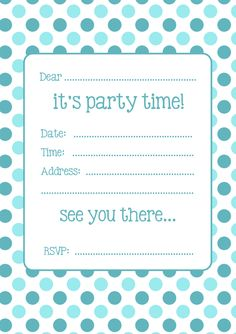 making your birthday party planning super simple see more two free spotty party invitations