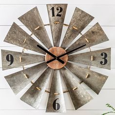 Farmland Windmill Wall Clock