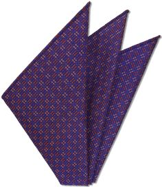 Thai Brocade Silk Pocket Square # 4