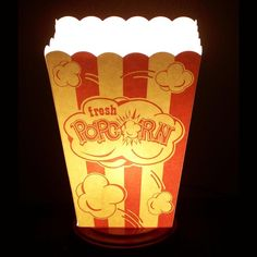 Popcorn Box TV lamp very and style by CreativePal on Etsy Movie Theater Popcorn, Movie Theater Rooms, Father Knows Best, Home Movies, Box Tv, Hobby Lobby, Game Room, Playroom, Circus Room