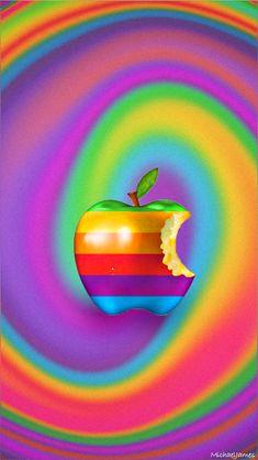 Download Rainbow Swirl Apple 640 x 1136 Wallpapers - 4529795 - Apple Logo Old Swirl | mobile9