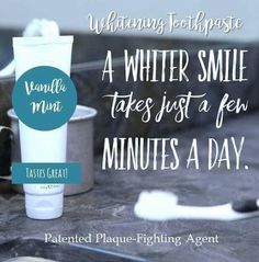 Natural Teeth Whitening Remedies off this amazing all natural toothpaste ! Best Toothpaste, Whitening Fluoride Toothpaste, Teeth Whitening Remedies, Natural Teeth Whitening, Skin Whitening, Nu Skin, All Natural Toothpaste, Ap 24, Tooth Sensitivity