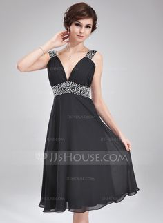 Homecoming Dresses - $108.99 - A-Line/Princess V-neck Knee-Length Chiffon Homecoming Dress With Ruffle Beading (022011115) http://jjshouse.com/A-Line-Princess-V-Neck-Knee-Length-Chiffon-Homecoming-Dress-With-Ruffle-Beading-022011115-g11115?ver=xdegc7h0