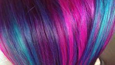Elumen Violet, Pink and Turquoise