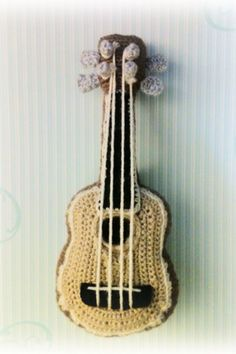 Ukulele (Crochet) by citta-kun on DeviantArt Crochet Music, Crochet Toys, Knit Crochet, Pineapple Ukulele, Tumblr Phone Case, Cool Ukulele, Fun Projects, Crocheting, Musicals