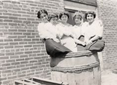 A Barrel of FUN  Vintage snapshot Photo by photopicker on Etsy