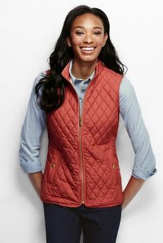 Women's Quilted PrimaLoft Vest from Lands' End I love vests! They are great to keep warm and add that extra layer for cute!
