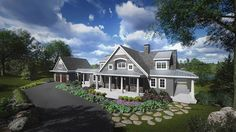 Home Plan HOMEPW76105 - 5280 Square Foot, 5 Bedroom 5 Bathroom Traditional Home with 3 Garage Bays | Homeplans.com