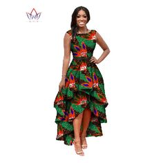 clothes for women on sale at reasonable prices, buy African Clothes For Women O-neck African Dashiki Dresses Cotton Dress Sleeveless African Print Dress Big Size Natural from mobile site on Aliexpress Now! African Dashiki Dress, African Print Dresses, African Print Fashion, African Clothes, African Jumpsuit, Costume Africain, Big Size Dress, Ankara Dress Styles, Elegant Dresses For Women