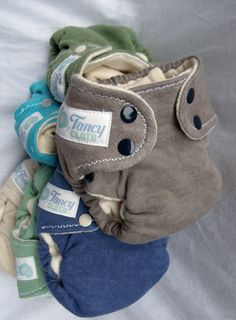 XS/S Hemp Fitted Cloth Diapers Handdyed and Natural by #fancycloth on etsy!  So cute for cloth diapering a teeny newborn!