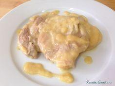 Filetes de lomo con salsa de manzana #RecetasGratis #RecetasdeCocina…