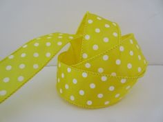 Yellow Dot Ribbon Yellow and White Dotted Ribbon by DanJSupplies