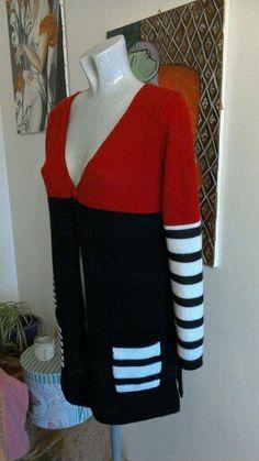 Cardigan misto lana di LaManu...lavorazione a macchina