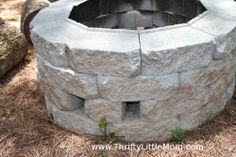 Easy DIY Inexpensive Firepit for Backyard Fun |