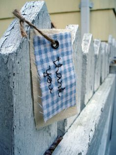 Fabric gift tagthank you by VisionsandRevisions on Etsy, $3.50