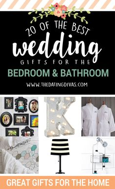 Newlyweds always need bed and bath supplies for wedding gifts, but I never know what to get them! These ideas are great! www.TheDatingDivas.com
