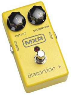MXR M104 Distortion+ Distortion Pedal MXR's Distortion Plus pedal creates a whole mess of overdriven tones with just 2 knobs. Crank it from sweet breakup to gritty crunch to fuzzed-out insanity.