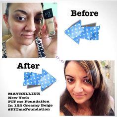 #FitMeFoundafion #Influenster @influenster  #free #testing #makeup #maybelline   FitMe Foundation in 122 Creamy Beige