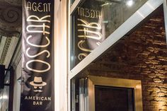 Agent Oscar | STADTBEKANNT | Das Wiener Online Magazin Broadway Shows, Neon Signs, Bar, American, New Construction