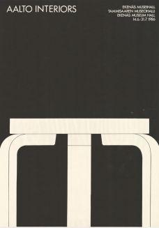 Aalto Interiors, Tammisaaren museohalli, 14.6-31.7.1986. Ad Design, Layout Design, Art Exhibition Posters, Alvar Aalto, Graphic Design Posters, Visual Communication, Palazzo, Illustrations Posters, Texas