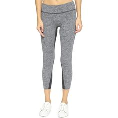 SOLOW Space Dye Leggings ($75) ❤ liked on Polyvore featuring pants, leggings, cropped trousers, solow pants, solow, wide waistband leggings and crop pants