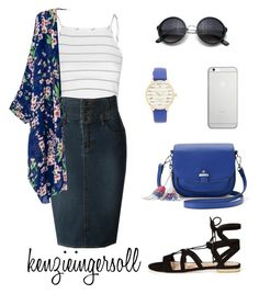 """""""bluesy"""" by kenzieingersoll on Polyvore featuring Glamorous, LE3NO, River Island, Candie's, Kate Spade, Native Union, modestishottest, ApostolicFashion and polyvorefashion"""