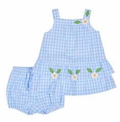Florence Eiseman Baby Girls Blue Check Seersucker Dress with Bloomers - Limited Edition! Toddler Fashion, Kids Fashion, Baby Frock Pattern, Kids Summer Dresses, Baby Dress Design, Baby Frocks Designs, Baby Girl Pictures, Seersucker Dress, Girl Doll Clothes