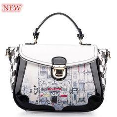 2016 fashion women handbag preppy style shoulder bag new printing tote fresh women messenger bags hot vintage crossbody bag