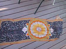 Emilio Pucci scarf orange black yellow cashmere silk blend new
