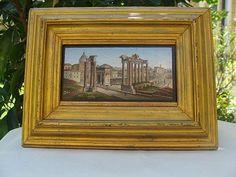 Magnificent Roman Micromosaic plaque depicting the Forum Romanum