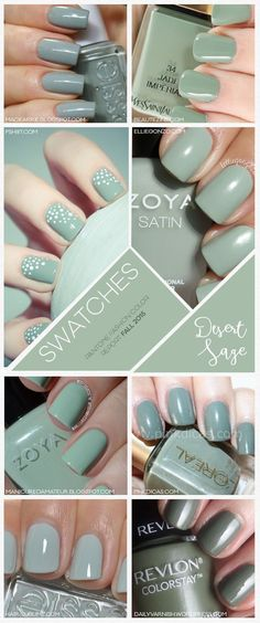 Pantone Fashion Color Report Fall 2015 Desert Sage Source by anacriscabral Great Nails, Love Nails, How To Do Nails, Fun Nails, Manicure E Pedicure, Garra, Tips Belleza, Gorgeous Nails, Nail Polish Colors