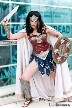 Warrior Wonder Woman Cosplay by Meagan Marie This is so beautiful. It takes an oversexualized costume and gives it a twice as powerful look. I love it! Such an attractive cosplay! <3
