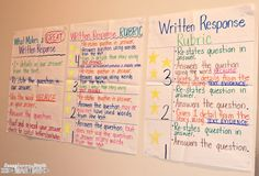 Improving Written Responses with student scoring rubrics and more!