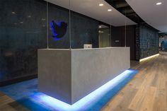 [Reception] Dark Reception Wall + Cement Reception Table + Floor Combination More