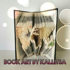 Δώρο ♥ All around the world ♥ Γη ♥ Βιβλίο ♥ Book Art By Kallitsa ♥ Τέχνη ♥ Book Folding #bookfolding #bookart #allaroundtheworld #world #travel #gift