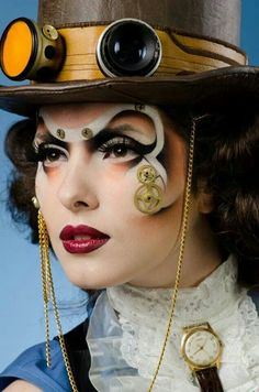 Steampunk Make Up - cogs in context, this works for me.