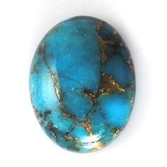 SALE Blue Copper Turquoise Cabochon Single Piece Oval 16x12mm on Etsy, $9.95