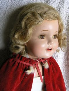 "Madame Alexander huge 28"" Princess Elizabeth 1938 coronation doll-composition-excellent"