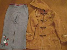 Gymboree Girls Size 5 2 Pieces Houndstooth Pants & Brown Jacket Hoodie Corduroy  #Gymboree #DressyEveryday