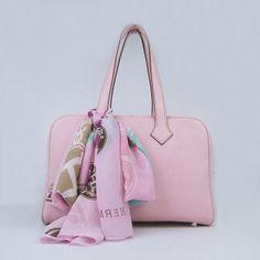 ( ⊙o⊙?)  Hermes Pink Cowskin Handbag H2802 #Hermes #Handbags #Pink $423 ,※♬… .