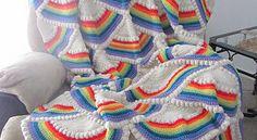 Ideas For Crochet Baby Dress Modern Crochet Bobble Blanket Pattern, Crochet Baby Dress Pattern, Baby Dress Patterns, Afghan Patterns, Baby Blanket Crochet, Crochet Patterns, Crochet Blankets, Rainbow Afghan, Quilts Online