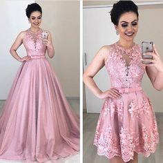 A imagem pode conter: 2 pessoas pessoas em pé v Pink Formal Dresses, Bridal Dresses, Bridesmaid Dresses, Prom Dresses, Blush Evening Gown, Cheap Evening Dresses, Pulls, Marie, Ball Gowns