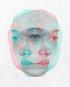 Tomasz-Mro pen red and pan lightblue Reflection Art, Water Reflections, A Level Art, Gcse Art, Art Sketchbook, Double Exposure, Art Inspo, Art Drawings, Realistic Drawings