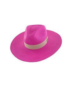 Indy Fuchsia hat by Prymal - Toquilla Straw - AKA Panama Hat