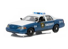 Green Light Collectibles 1:43 Ford Crown Diecast Model Car GL86504 This Ford Crown Victoria (2001) Diecast Model Car from The Walking Dead is Blue and White and has working wheels and also comes in a display case. It is made by Green Light Collectibles and is 1:43 scale (approx. 11cm / 4.3in long).    Rick and Shane's patrol car from season 1 of the cult TV series.  #GreenLightCollectibles #ModelCar #Ford #MiniModelCars Walking Dead Toys, Walking Dead Tv Series, Victoria Police, Diecast Model Cars, Ford Models, Display Case, Vintage Toys, Corgi, Blue And White